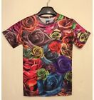 Pop MEN Women Full of Rose 3D Graphic T Round Top Tee T Shirt