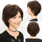 New Fashion Old Women's Lady Short Curly Wavy Full Wig Hairs Black Brown