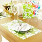 4Pcs Flowers Placemat Insulation Pad Western Dining Table Desk Holder Home Decor