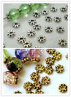 200PCS Daisy Spacer Zinc Metal Alloy Beads Cap Jewelry Making 4mm Hot Sale