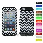 Chevron Wave Design Hybrid Rugged Impact Case Cover for iPod Touch 5 5th GEN