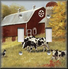 Switch Plates And Outlets - Country Farm Cows - Red Barn - Home Decor