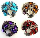 """New Ladies Large 2"""" Sparkly Wreath Vtg 1940's/50's Jewellery Retro Brooch Pin"""