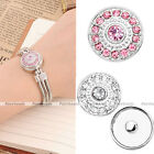 1x Chunk Snap Charm Round Crystal Button Beads Fit Buckle Bracelet Ring DIY FB