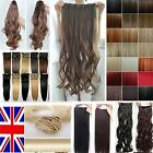 Best condition Clip In Hair Extensions Piece Ponytail Bangs auburn real reds