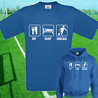 EAT, SLEEP, CHELSEA FOOTBALL T SHIRT / HOODIE - KIDS ADULTS  TOP