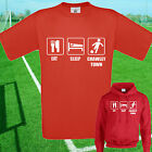 EAT, SLEEP, CRAWLEY FOOTBALL T SHIRT / HOODIE - KIDS ADULTS  TOP TOWN