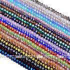 LOT Crystal Glass Faceted Abacus Rondelle Loose Beads 4x6MM for Jewelry Findings