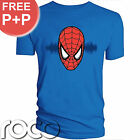 Mens Official Blue Spiderman Marvel Comics Peter Parker T-Shirt S M L XL XXL