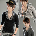 New Men's Fashion Slim Fit Thin Heap collar Hooded Sweater Jacket US LO