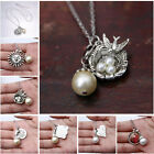 Fashion Jewelry Multielement 9 STYLES U pick Faux Pearl Silver Chain Necklace
