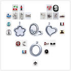 New Living Memory Locket Necklace Floating Charm Pendant Charms Stainless Steel