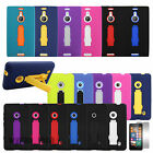 Hybrid Impact Stand Hard Gel Case Dual Layer Covers For Nokia Lumia Phone +Film