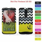 For LG G2 Yellow Anchor Love Chevron Hybrid Rugged Impact Armor Phone Case Cover