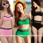 Cutest Women Retro Swimsuit Swimwear Vintage Push Up High Waist BikiniI Set M-XL