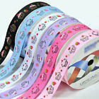 "5 yards 3/8"" 5/8"" 1"" 1.5"" cute cake sewing grosgrain ribbon 4 hairbow new"