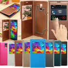 View Window Flip Leather Water Proof Case Cover For Samsung Galaxy S5 i9600 G900