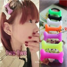 2014 new trend dandyism fluorescent color dog bone hair rope hair clip