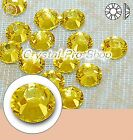 GENUINE Swarovski Citrine (249) Iron On glass Flatback Hotfix Rhinestone crystal