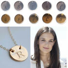 Multi-style Letter Initial Disc Charm Necklace Necklace Mother Lover XMAS Gifts