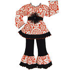 AnnLoren Girls Orange Blossom Shirt & Pants Clothing Outfit 2/3T-9/10