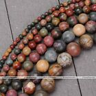 "1 Strand 15""-16"" Natural Picasso Jasper Gemstone Round ball Loose Beads 4-14MM"