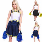 High School Cheer Girl Top Skirt Panty Glee Cheerleader Printable Uniform Pompom