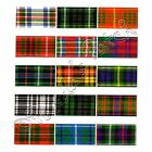 Berisfords 25mm Polyester Tartan Ribbon Choice of 16 Colours