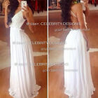 dm25 Celebrity Style Crochet Halter Criss Cross Back Strap Chiffon Maxi Dress