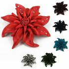 """Handmade"" Leather Flower Brooch Pin Mammillaria Large 4 in Choose Color aga6"