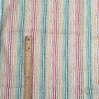 FINAL REMNANT : Wavy  stripes on cream decor weight 100% cotton fabric 72x140cm