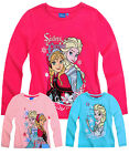 Girls Disney Frozen Top Kids Princess Elsa Long Sleeve T Shirt New Age 2-8 Years