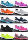 New Womens Skechers Go Walk 2 Comfort Plimsolls Shoes Trainers Pumps Size 3-8 UK