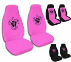 Hibiscus Turtle Car Seat Covers Black and Hot Pink Variety Airbag Friendly