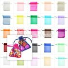 20/40Pcs Plain Organza Gift Jewelry Bags Wedding Favour Xmas Party Candy Pouch