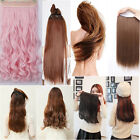 NEW straight/curly/corn wave 3/4Full Head Pink Blonde RED Clip In Hair Extension