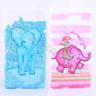 2Pcs Elephant Friend Soft TPU Silicone Bumper Lucky Cute Case Cover For Phones