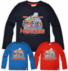 Boys Avengers T Shirt Kids Heroes Long Sleeve Marvel Top New Age 3 4 6 8 Years