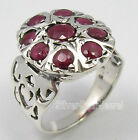 925 Silver NATURAL RUBY GEMSTONE CELTIC Ring Any Size
