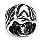1x Stainless Steel Death Ghost Dead Skull Big Mens Biker Ring Gift US9-13 Gothic