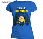 Official Skinny T Shirt DESPICABLE ME 2 1 In a Minion Dave Blue All Sizes