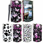 For Samsung S5620 Monte New Printed Hard Shell Back Protective Case Cover+Stylus
