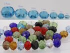 New Multicolor Rondelle Faceted Crystal Loose Beads Spacer 6/8/10//12/14/16/18mm