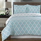 Meridian Blue and White Egyptian Cotton Duvet Cover Set