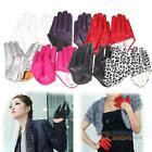 Hot Woman Tight Half Palm Gloves Imitation Leather Five Finger Vivid Color #F8s