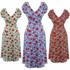 Hell Bunny Shelia Floral Apple 1940s Wartime WW2 Style Summer Tea Party Dress