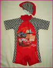 CARS RASHSUIT + CAP - Sz 3 5 or 7 RASH SUN SUIT - Swimwear Rashi Boys Togs NEW