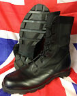 Genuine British Army (American Made) Black Leather Jungle Boots by Wellco UNUSED