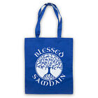 BLESSED SAMHAIN GAELIC HALLOWEEN FESTIVAL IRISH RETRO CANVAS TOTE BAG SHOPPER