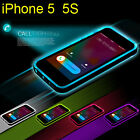 Rock Incoming Calllighting LED flash Bumper Frame Skin Case Cover for iPhone5 5S